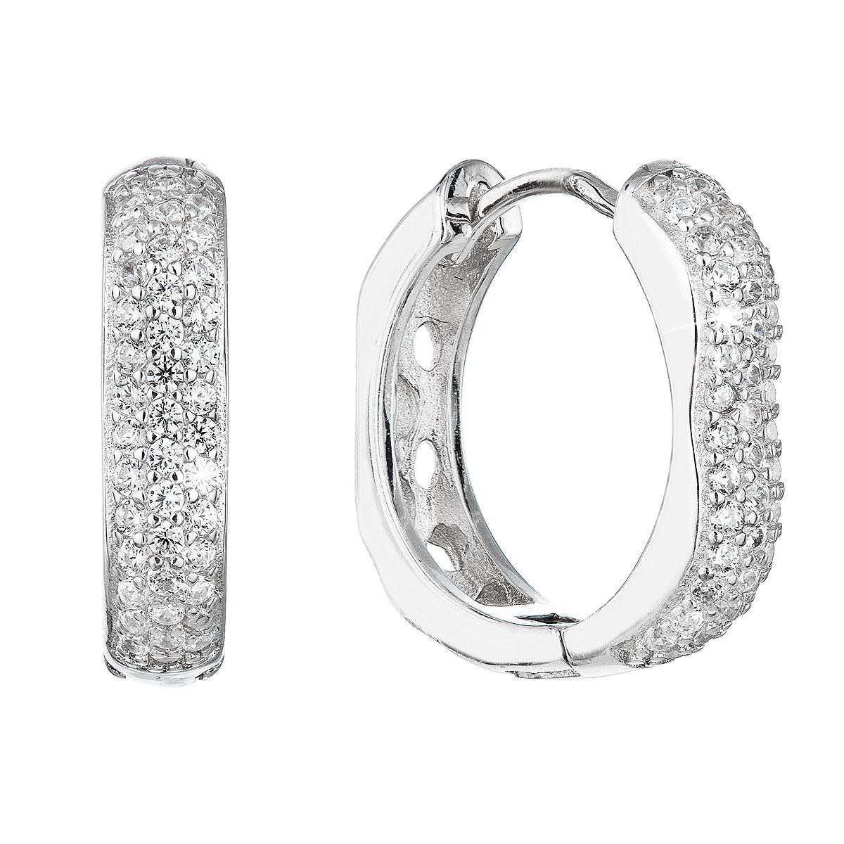 Stříbrné náušnice kruhy EG2863