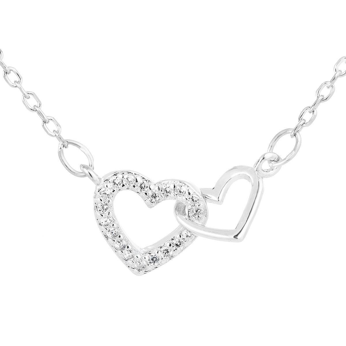 Stříbrný náhrdelník srdíčka EG4241