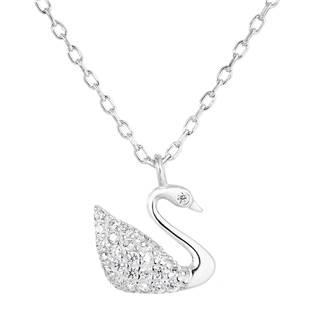 Stříbrný náhrdelník s labuť