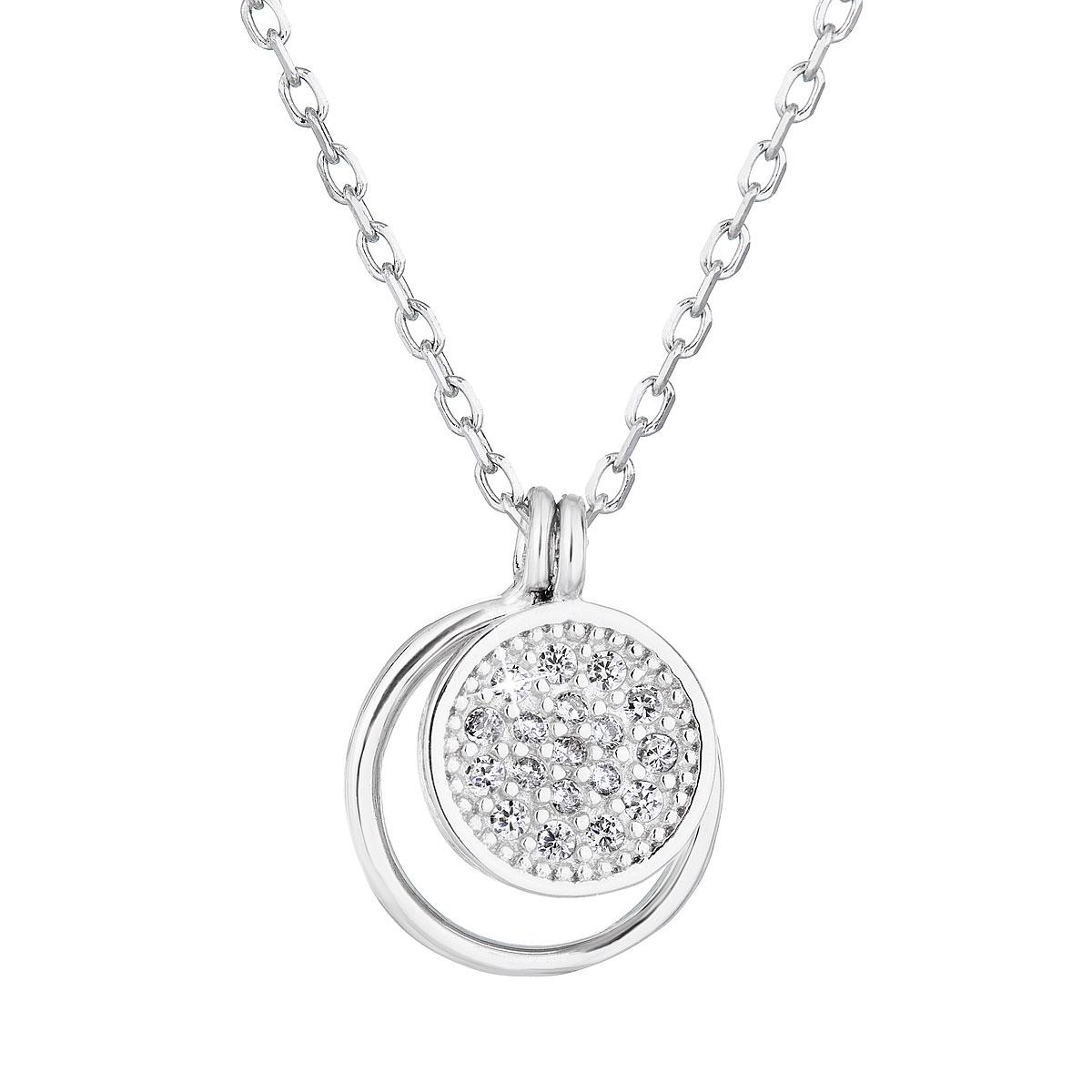 Stříbrný náhrdelník s kolečky EG4245