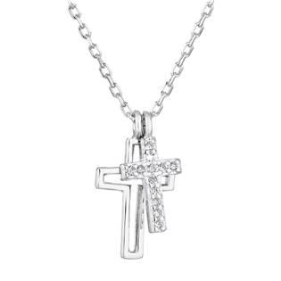 Stříbrný náhrdelník s křížky