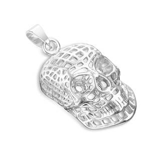 OPP1744-ST Ocelový přívěšek - lebka drátěná