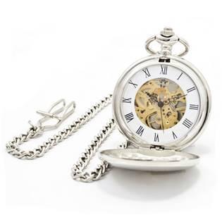 Šperky4U Mechanické kapesní hodinky otevírací - cibule - KH0008