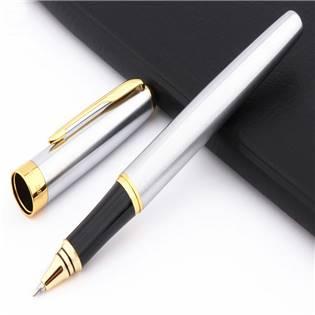 Kuličkové pero s víčkem stříbrné