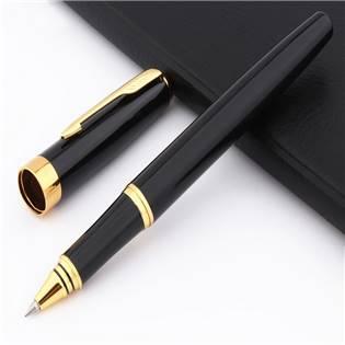 Kuličkové pero s víčkem černé