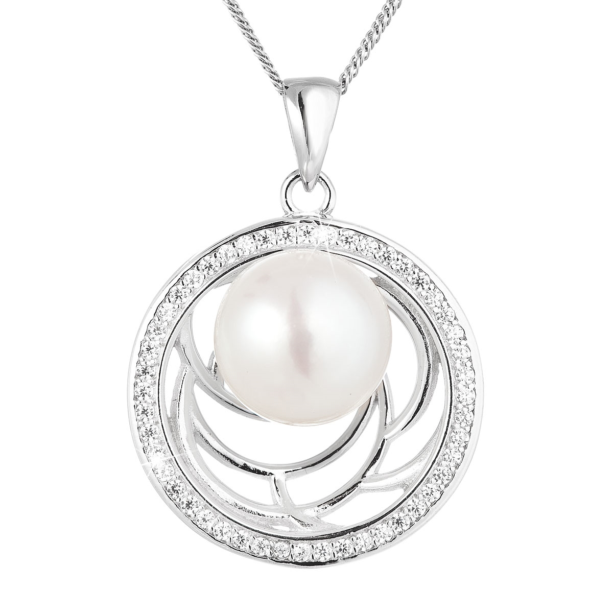 Perlový náhrdelník s říčních perlou EG4246