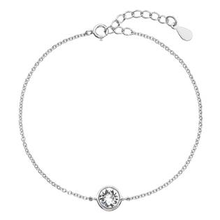 Stříbrný náramek s kamenem Crystals from Swarovski®