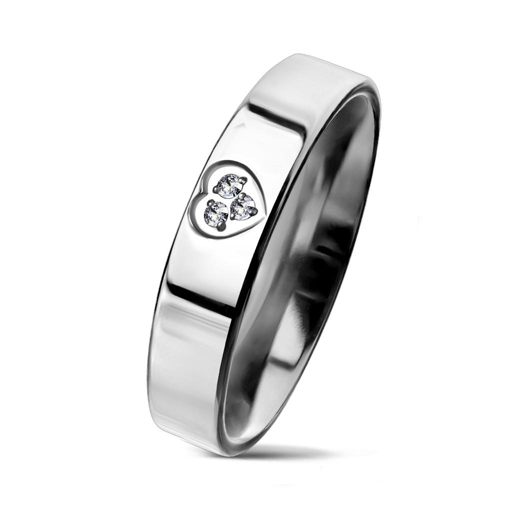 NSS3004-ZR Dámsky snubný prsteň so srdiečkom