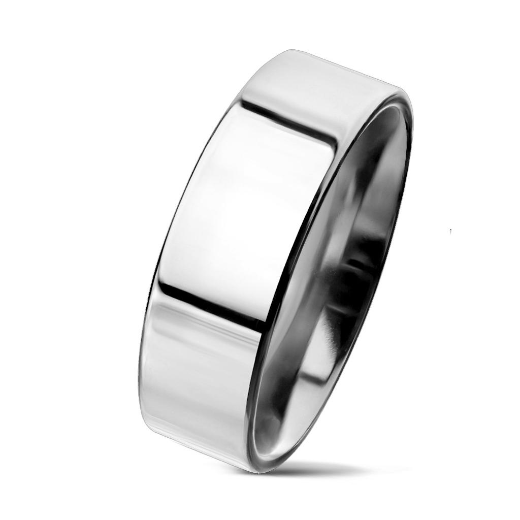 NSS3004 Dámsky prsteň chirurgická oceľ, šírka 6 mm