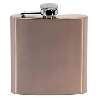 Kapesní láhev placatka růžová nerezavá ocel 175ml dárkové balení