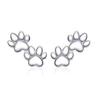 AL1003-ST Stříbrné náušnice - psí tlapičky