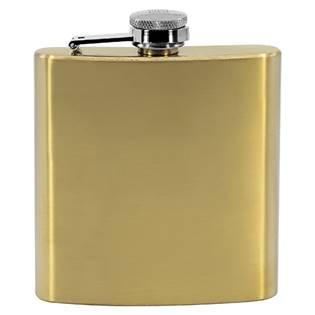 Ocelová kapesní lahev - placatka zlatá 175ml v dárkovém balení