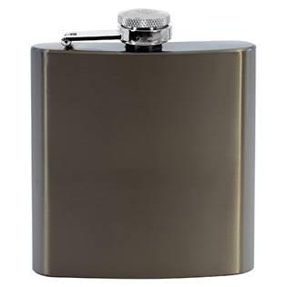 Ocelová kapesní lahev - placatka hnědá 175ml v dárkovém balení