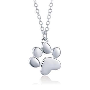 AL1001-ST Stříbrný náhrdelník psí tlapička