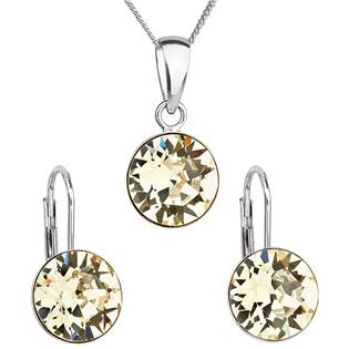 EVOLUTION GROUP CZ Sada stříbrných šperků s kameny Crystals from Swarovski® Yellow - 39140.3