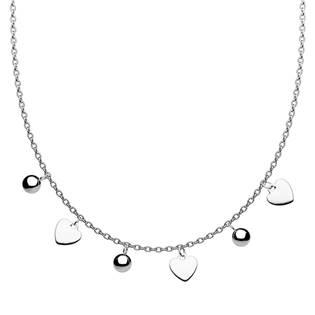 Ocelový náhrdelník s přívěsky