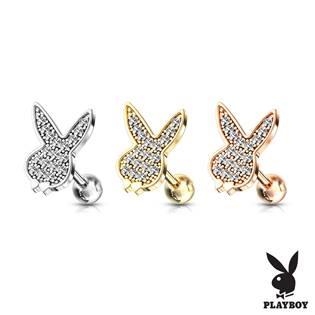 Cartilage piercing do ucha Playboy, čiré zirkony