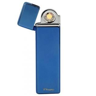 Plazmový zapalovač Lucca Di Maggio s USB úzký modrý