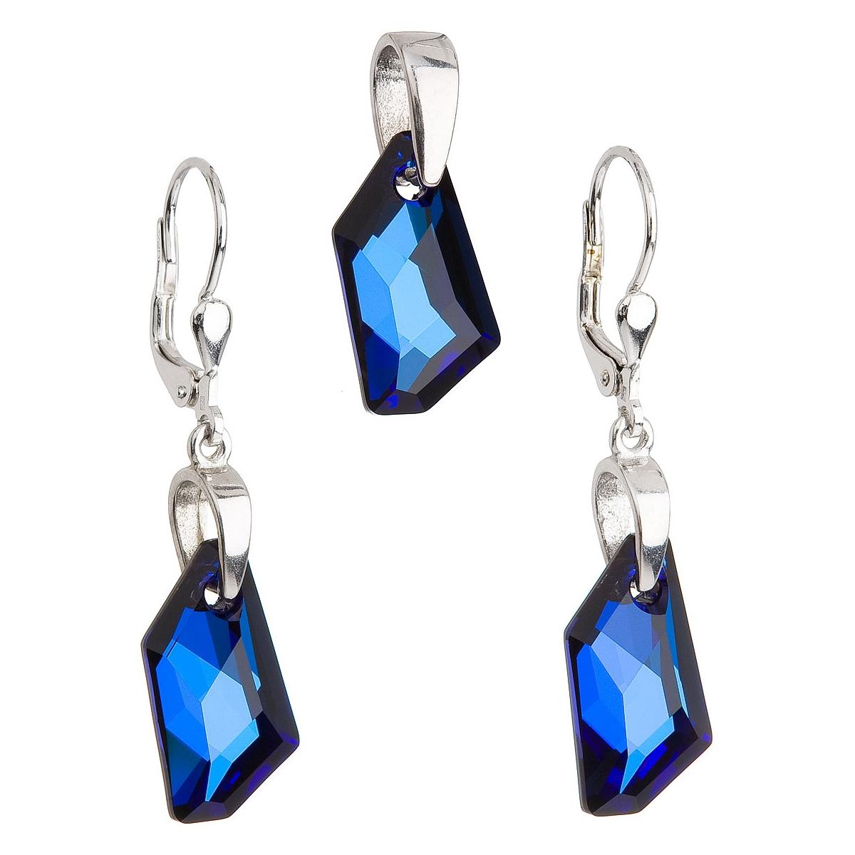 Sada šperků s kameny Crystals from Swarovski® Bermuda Blue EG3026-BB