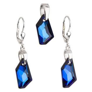 Sada šperků s kameny Crystals from Swarovski® Bermuda Blue