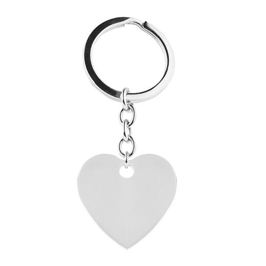 Oceľový prívesok na kľúče - srdce