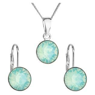 Sada stříbrných šperků s kameny Crystals from Swarovski® Pacific Opal