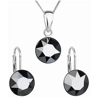 Sada stříbrných šperků s kameny Crystals from Swarovski® Hematite