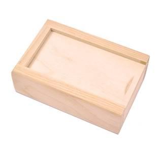 Dřevěná krabička s posuvným víkem