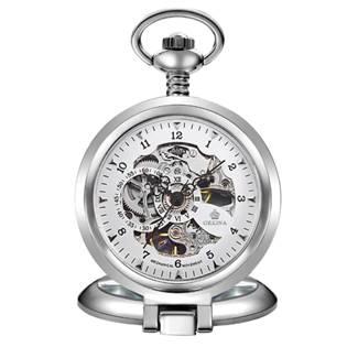 Šperky4U Mechanické kapesní hodinky otevírací - cibule - KH0052-ST