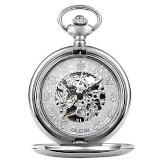 Šperky4U Mechanické kapesní hodinky otevírací - cibule - KH0017-ST