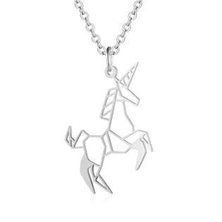 OPD0193-ST Ocelový náhrdelník jednorožec