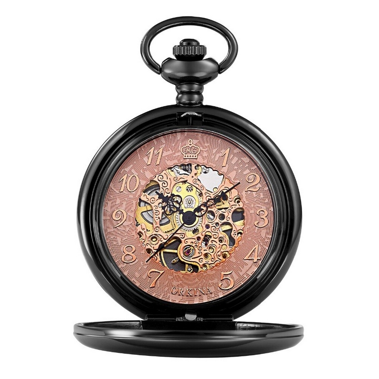 Mechanické vreckové hodinky otváracia - cibuľa