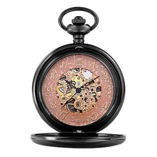 Šperky4U Mechanické kapesní hodinky otevírací - cibule - KH0017-K