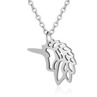 Ocelový náhrdelník jednorožec