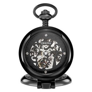 Šperky4U Mechanické kapesní hodinky otevírací - cibule - KH0073-KK