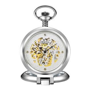 Šperky4U Mechanické kapesní hodinky otevírací - cibule - KH0073-ST