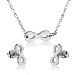 SET0045-ST Set šperků z chirurgické oceli, nekonečno