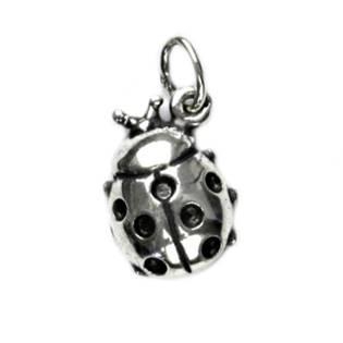 Stříbrný přívěšek - beruška s černými puntíky