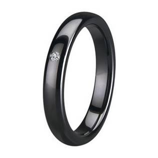 KM1010-4 Dámský keramický prsten černý, šíře 4 mm