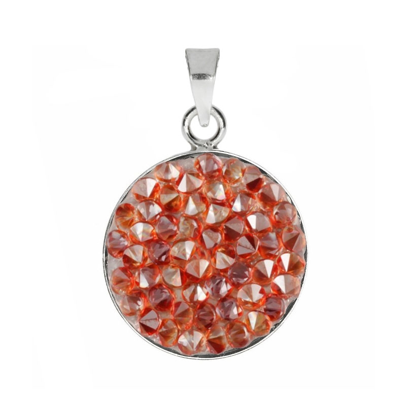 Prívesok Crystals from Swarovski ® 15mm, RED MAGMA