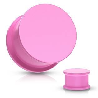 Plug do ucha silikon, růžová barva