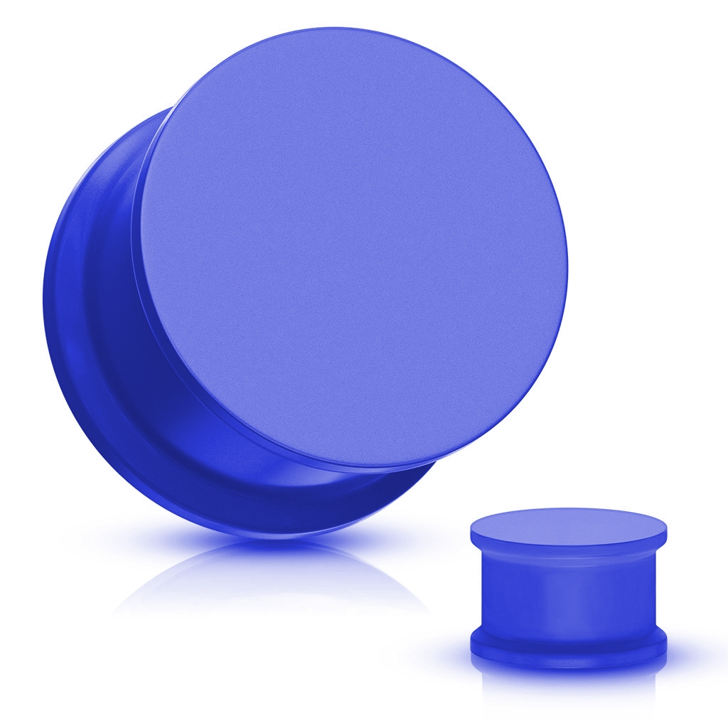 Plug do ucha silikón, modrá farba