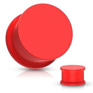 Plug do ucha silikon, červená barva