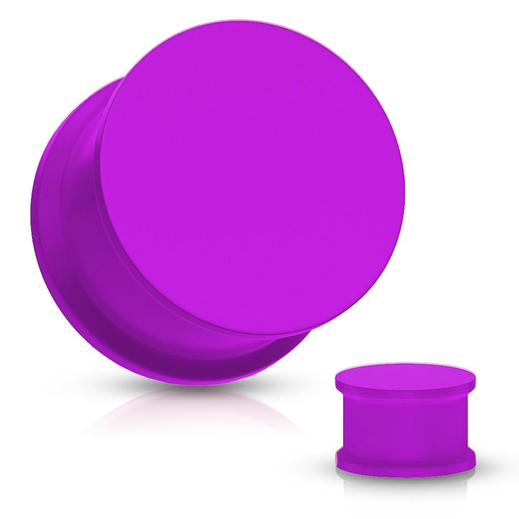 Plug do ucha silikón, fialová farba