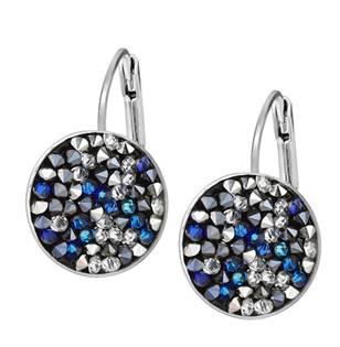 Náušnice s krystaly Crystals from Swarovski® BLUE PEPPER
