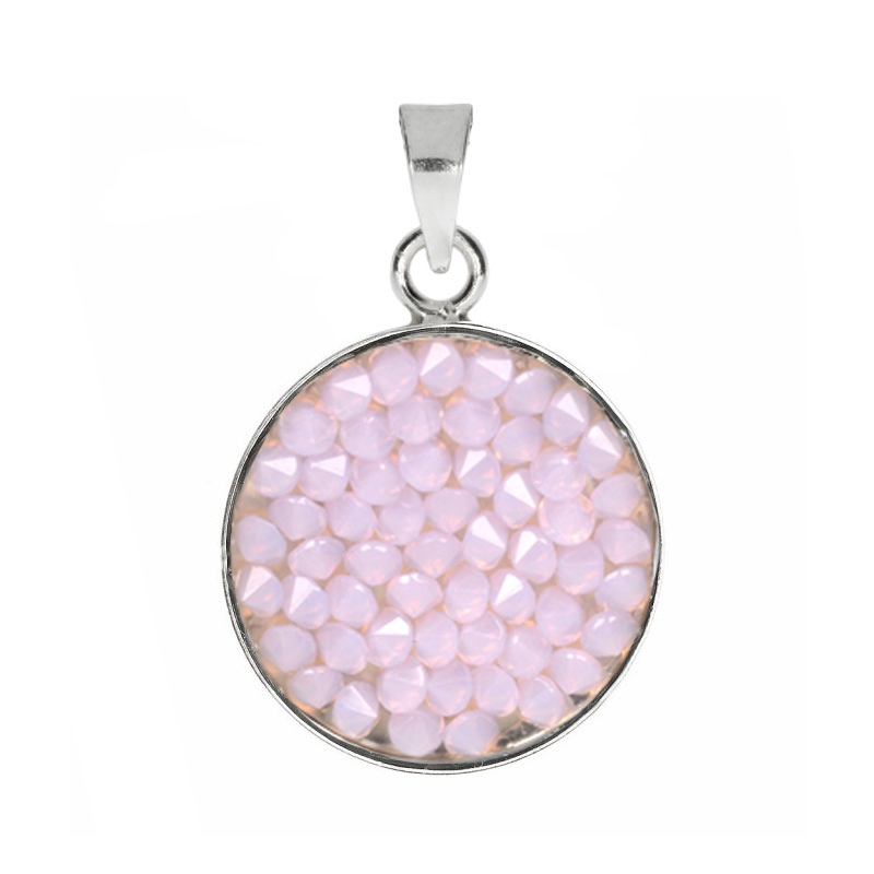 Prívesok Crystals from Swarovski ® 15mm, ROSE WATER OPAL