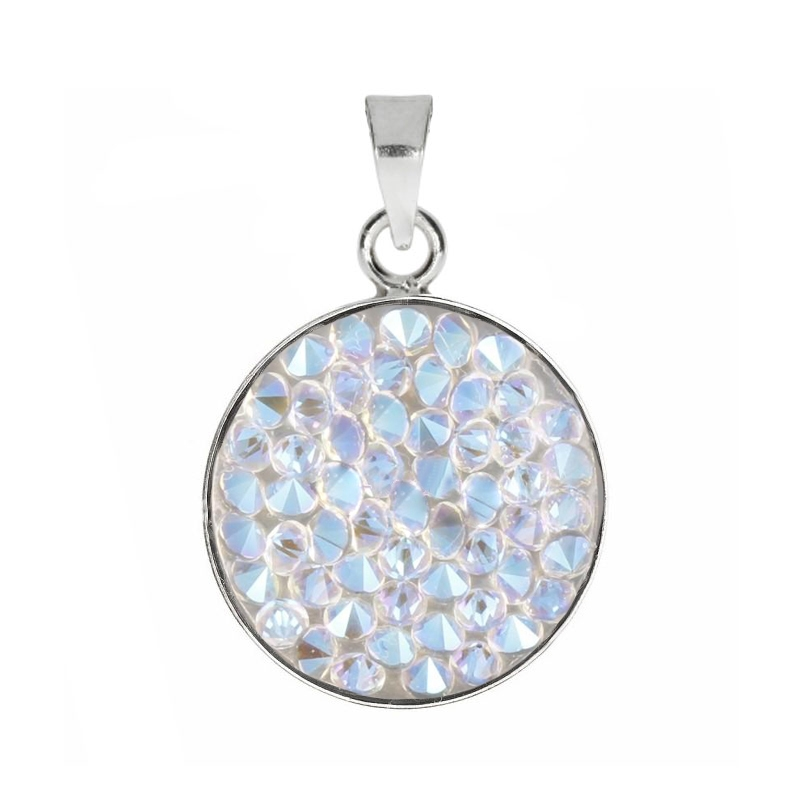 Prívesok Crystals from Swarovski ® 15mm, CRYSTAL shimmer