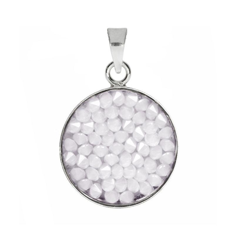 Prívesok Crystals from Swarovski ® 15mm, WHITE OPAL