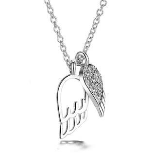 AL1010 Stříbrný náhrdelník - andělská křídla