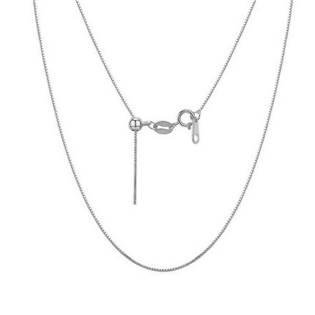 AL0027-ST Stříbrný řetízek - čtvercový, nastavitelná délka